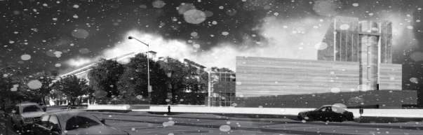 South Facade - Snow