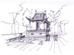 china-Dongli watertown sketche-