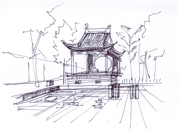 china-Dongli watertown sketche-