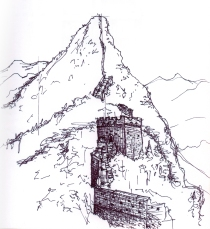 china-great wall sketch