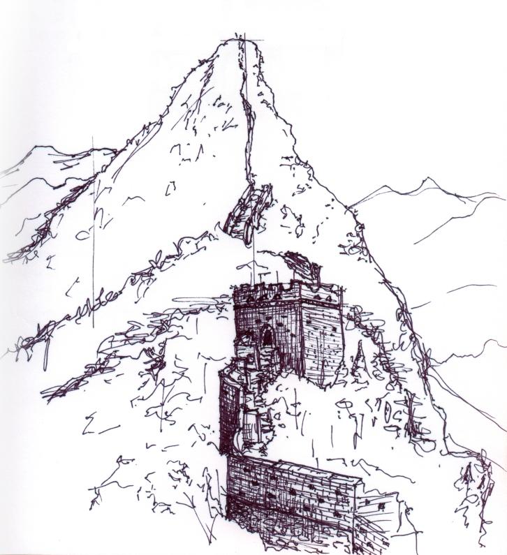 china-great wall sketch