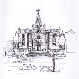 china-pingao church sketch