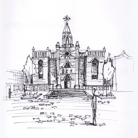 china-pingao church sketch
