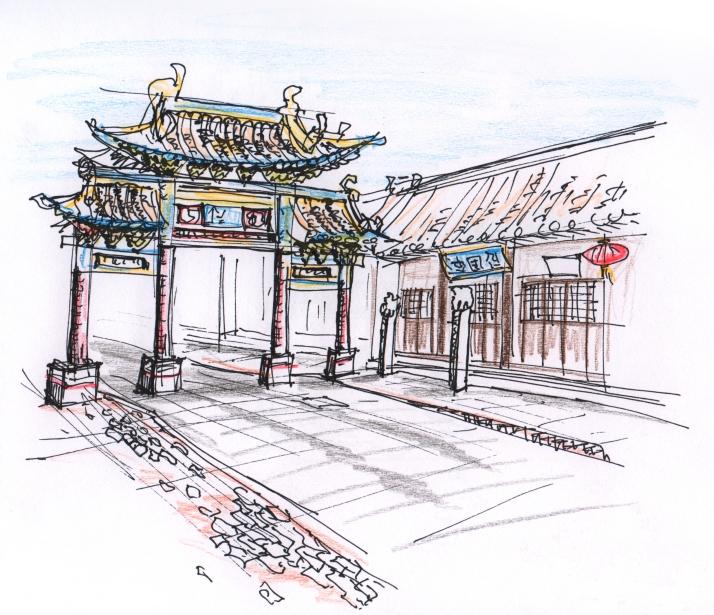 china-pingao gate sketch