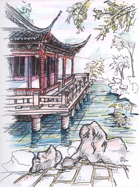 china-shanghai sketch