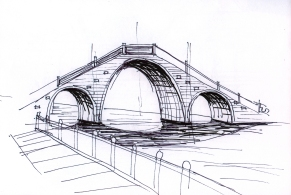 china-suzhou bridge-sketches