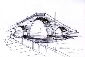china-suzhou bridge-sketches