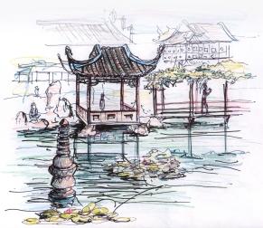 china-suzou garden sketche