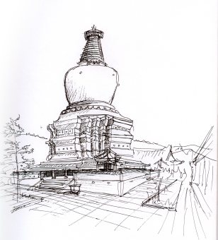 china-wutai mtn sketch