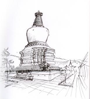 china-wutai mtn sketch