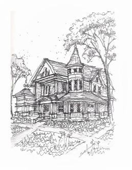 2018-Sept_Bishops House Sketch2