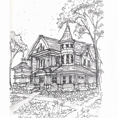 2018-Sept_Bishops House Sketch2